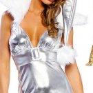 3pc Winter Foil Christmas Costume