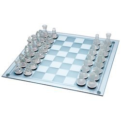 Maxam� 33pc Glass Chess Set