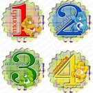 CAREBEARS MONTHLY ONESIE STICKERS 1 to 12 months by Onesie Stickers, Free Milestone Stickers