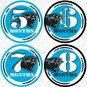 CAROLINA PANTHERS NFL ONESIE STICKERS 1 to 12 months by Onesie Stickers, Free Milestone Stickers