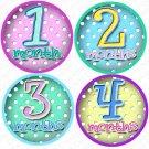 DOTS ONESIE STICKERS baby shower gift by Onesie Stickers, Free Milestone Stickers