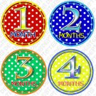 DOTTIE DOTS ONESIE STICKERS polka dots by Onesie Stickers, Free Milestone Stickers