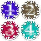 SIMPLICITY ONESIE STICKERS 4 inch circles by Onesie Stickers, Free Milestone Stickers