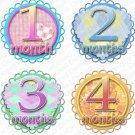 SWEET & SAVORY ONESIE STICKERS GIRLS by Onesie Stickers, Free Milestone Stickers