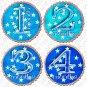TWILIGHT STARS ONESIE STICKERS infants toddlers by Onesie Stickers, Free Milestone Stickers
