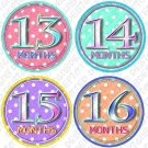 CHARLAMAGNE MONTHLY ONESIE STICKERS 13-24 MONTHS by Onesie Stickers, Free Milestone Stickers