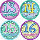 DOTS MONTHLY ONESIE STICKERS baby shower gift by Onesie Stickers, Free Milestone Stickers