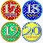 DOTTIE DOTS MONTHLY ONESIE STICKERS boy or girl, Free Milestone Stickers