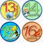 JUNGLE ZOO ANIMALS MONTHLY ONESIE STICKERS 13-24 MONTHS, infants and toddlers scrapbooking