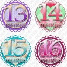 SWEET & SAVORY ONESIE STICKERS PASTELS, 13-24 months, scrapbook stickers