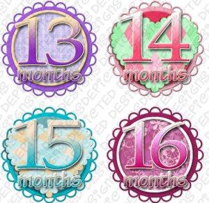 SWEET & SAVORY ONESIE STICKERS PASTELS, 13-24 months, scrapbook stickers