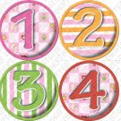 CLOWNING AROUND ONESIE STICKERS pink girls checkered design bodysuit onesies