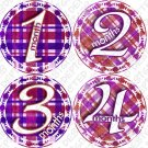 GIRLY PURPLE PINK PLAID ONESIE STICKERS pink girls checkered design TSHIRTS AND ONESIES