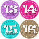 GIRLS DANCING DOTS ONESIE STICKERS 13 to 24 months by Onesie Stickers baby shower gifts