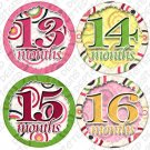 DANCING CIRCLES ONESIE STICKERS 13 to 24 months by Onesie Stickers baby shower gifts