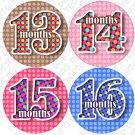 DOTTED NUMBERS ONESIE STICKERS 13 to 24 months by Onesie Stickers baby shower gifts