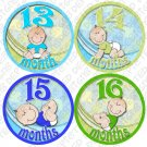 LITTLE BOY BABIES ONESIE STICKERS 13 to 24 months by Onesie Stickers baby shower gifts