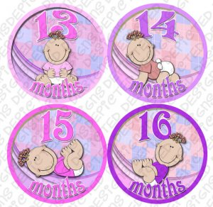 LITTLE GIRL BABIES ONESIE STICKERS 13 to 24 months by Onesie Stickers baby shower gifts