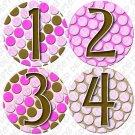 PINK BUBBLES ONESIE STICKERS 1 to 12 months by Onesie Stickers, Free Milestone Stickers