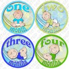 LITTLE BOY BABIES ONESIE STICKERS 1 to 12 months by Onesie Stickers baby shower gifts