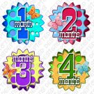 "MONTHLY ONESIE STICKERS 1 to 12 months ""Fading Polka Dots"" by Onesie Stickers baby shower gifts"