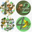 Onesie stickers BOYS MONKEYS green baby shower gifts