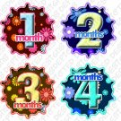 Onesie stickers Hibiscus Flower baby shower gifts toddlers infant