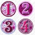 Monthly Onesie stickers bright colorful TARGETS baby shower gifts