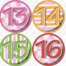Clowning Around Girls baby Onesie monthly stickers baby showers