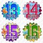 Fading Polka Dots Monthly Onesie stickers baby album stickers