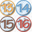 LIL BEES 13 to 16 Monthly Onesie Stickers blue boys for expecting mothers