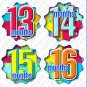 Patches Infant Monthly Onesie Stickers tshirt stickers baby gift