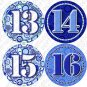 Blue Round Rings 13 to 24 Infant Monthly Onesie Stickers tshirt stickers baby gift