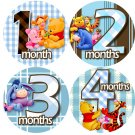Winnie The Pooh Baby Month Stickers baby album stickers