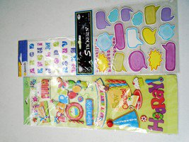K&Company Adhesive Chipboard: General Birthday & Alphabet Letters & Sayings
