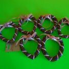 AMERICAN GREETING STRAW RUSTIC HEART WREATH w PINK RIBBON 4 CRAFT, DECOR & MORE