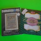 Dimensions Linen Home Sampler & Charles Craft Cross Stitch Fabric Ship Fast