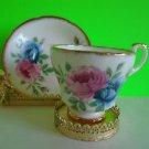 Adorable Vintage Royal Castle Fine Bone China Tea Cup & Saucer Gold Trim EUC