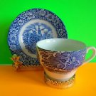 Vintage Liberty Blue Tea Cup & Saucer Old North Church Excellent Cond Ship Fast