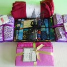 Large Lot of Fat Quarters Cotton Quilting Fabric Bundle + Gift Set New Ship Fast