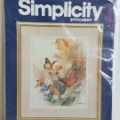 New Simplicity Stitchery Embroidery Kit Butterflies and Blossoms #05005