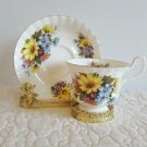 ROYAL ALBERT Gorgeous  Summer Bouquet Tea Cup and Saucer EUC Ship Fast w Trackin