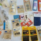MIXED LOT OF ASSORTED VINTAGE & NEW SEWING SUPPLIES NOTIONS CRAFTS