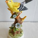Towle Fine Bone China Yellow Oriole Music Box Figurine, Plays Unknown Song -1147