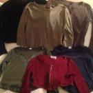Lot Juniors Shirts Sweater Tops M Jamie Scott One Step Up Brown Black Green Red