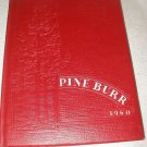 1960 yearbook The Pine Burr from Lincolnton High School in NC North Carolina