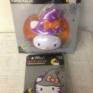 NEW Lot Hello Kitty Witch Pumpkin Decorating Kit Push-Ins