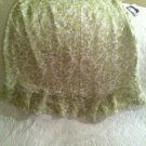 NWT Jaclyn Smith Green Floral Sheer Top Layer Skirt Womens Sz 6