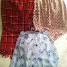 Lot juniors skirts Nouveaux Long Red Plaid Pink My Michelle Blue Flowers