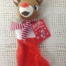NWT Rudolph The Red Nose Reindeer Mini Christmas Stocking